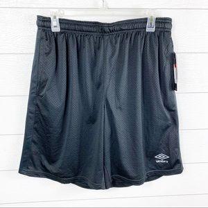 Umbro Athletic Mesh Short Breathable Black Large
